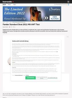 Bonedo.de Fender Standard Strat 2011 MN AWT