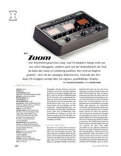 Gitarre & Bass Zoom G3, Multi-Effekt