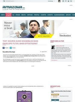 Amazona.de Test: Source Audio Soundblox Bass Envelope Filter, Bass-Effektgerät