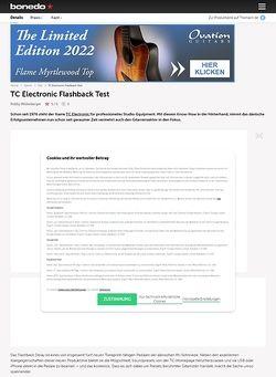Bonedo.de TC Electronic Flashback