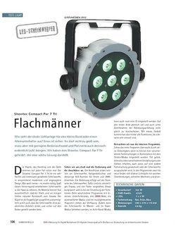 Soundcheck Test LED-Scheinwerfer: Showtec Compact Par 7 Tri