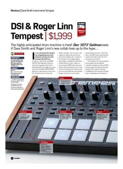 Future Music DSI and Roger Linn Tempest
