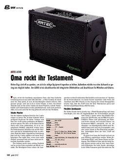 guitar Oma rockt ihr Testament - Artec A50D