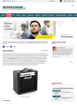 Amazona.de Test: Marshall MG15CF Gitarrenverstärker