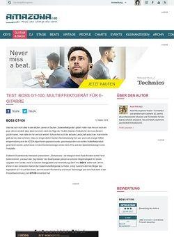 Amazona.de Test: BOSS GT-100, Multieffektgerät für E-Gitarre