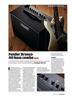 Guitarist Fender Bronco 40 bass combo
