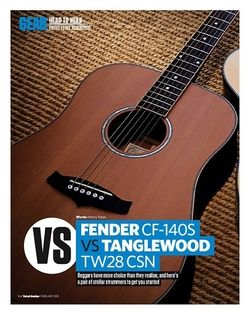 Total Guitar FENDER CF-140S