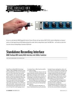 Sound & Recording rMe Fireface UFX Audio/MIDI-Interface mit DURec-Funktion
