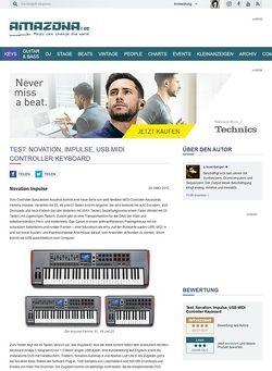 Amazona.de Test: Novation, Impulse, USB MIDI Controller Keyboard