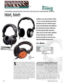 Recording Magazin Ultrasone Signature Pro, Pro 900 & Pro 650 20th Anniversary Edit