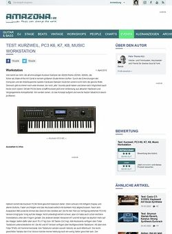 Amazona.de Test: Kurzweil, PC3 K6, K7, K8, Music Workstation