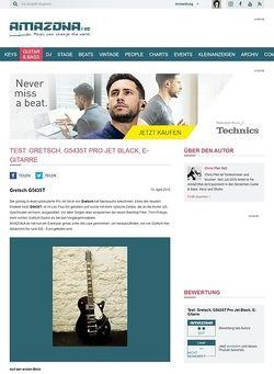 Amazona.de Test: Gretsch, G5435T Pro Jet Black, E-Gitarre