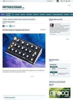 Amazona.de Test: Moog, Minitaur, Bass-Synthesizer