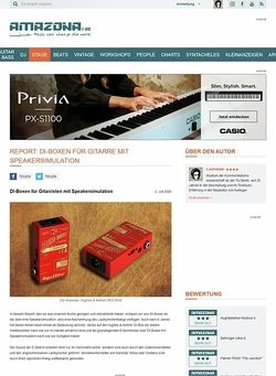 Amazona.de Vergleichstest: Di-Boxen mit Speakersimulation, Hughes und Kettner Redbox classic, Behringer Gi100, Palmer PDi09