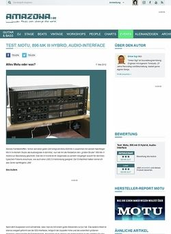Amazona.de Test: Motu, 896 mk III Hybrid, Audio-Interface