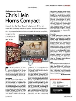 KEYS Chris Hein Horns Compact