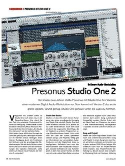 KEYS Presonus Studio One 2