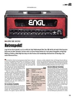 guitar gear Amp - Engl Retro Tube 100 E765