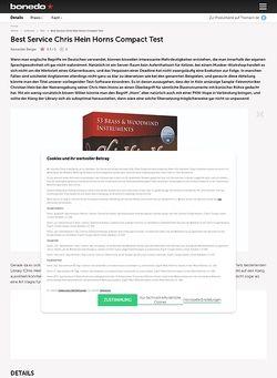 Bonedo.de Best Service Chris Hein Horns Compact