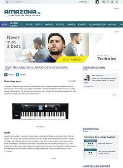 Amazona.de Test: Roland, BK-5, Arranger Keyboard