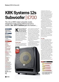 Future Music KRK Systems 12s Subwoofer