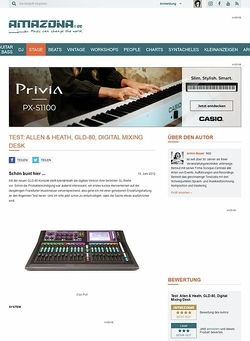 Amazona.de Test: Allen & Heath, GLD-80, Digital Mixing Desk