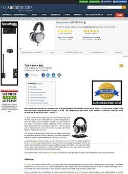 Audiofanzine.com BeyerDynamic DT 880 Pro