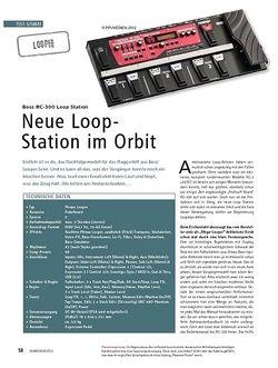 Soundcheck Test Looper: Boss RC-300 Loop Station
