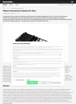 Bonedo.de Native Instruments Kontrol F1