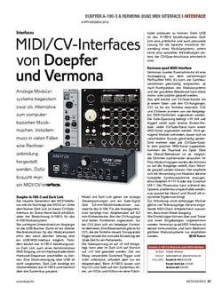 KEYS MIDI/CV-Interfaces von Doepfer und Vermona