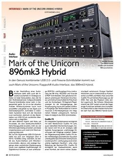 KEYS Mark of the Unicorn 896mk3 Hybrid