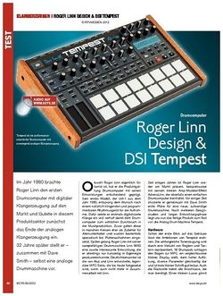 KEYS Roger Linn Design & DSI Tempest