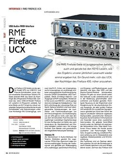 KEYS RME Fireface UCX