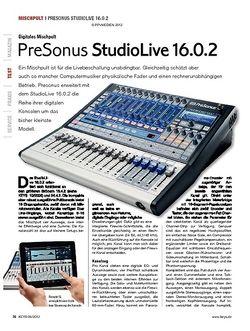 KEYS PreSonus StudioLive 16.0.2