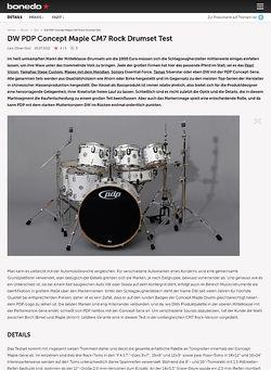 Bonedo.de DW PDP Concept Maple CM7 Rock Drumset
