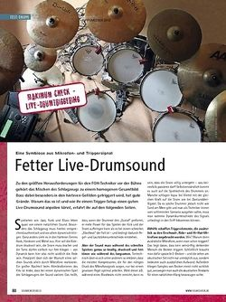 Soundcheck Maximum Check: Live-Drumtriggering