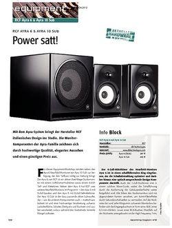 Recording Magazin RCF Ayra 6 & Ayra 10 Sub - Power satt!