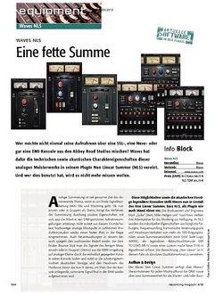 Recording Magazin Waves NLS - Eine fette Summe