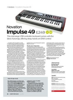 Computer Music Novation Impulse 49