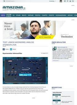 Amazona.de Test: Jomox, Moonwind, Analoges Stereo Filter