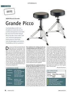 Soundcheck Test Hocker: K&M Picco & Grande
