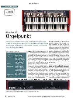 Soundcheck Test E-Orgel: Clavia Nord C2D