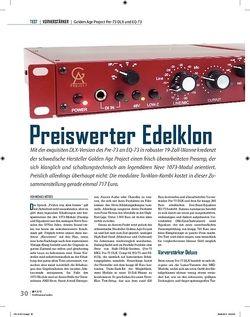 Professional Audio Preiswerter Edelklon: Golden Age Project Pre-73 DLX und EQ-73