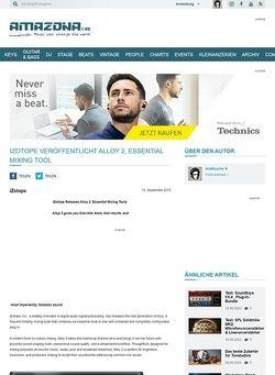 Amazona.de iZotope veröffentlicht Alloy 2, Essential Mixing Tool
