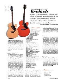 Gitarre & Bass Gretsch G-5013CE/G-5022CE, A-Gitarren