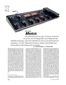 Gitarre & Bass Boss GT-100, Gitarren-Floor-Multi-FX