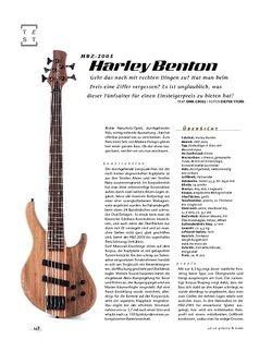 Gitarre & Bass Harley Benton HBZ-2005, E-Bass