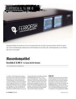 Sound & Recording Ferrofish A 16 MK-II 16-Kanal-AD/DA-Wandler