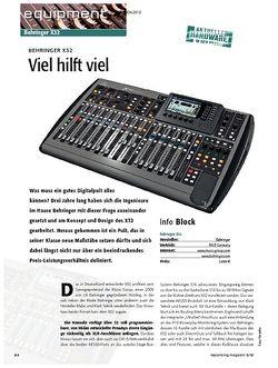 Recording Magazin Behringer X32