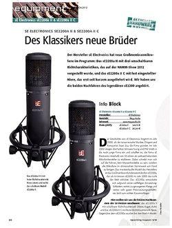 Recording Magazin sE Electronics sE2200a II & sE2200a II C